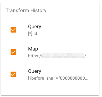 chisel app transformation history